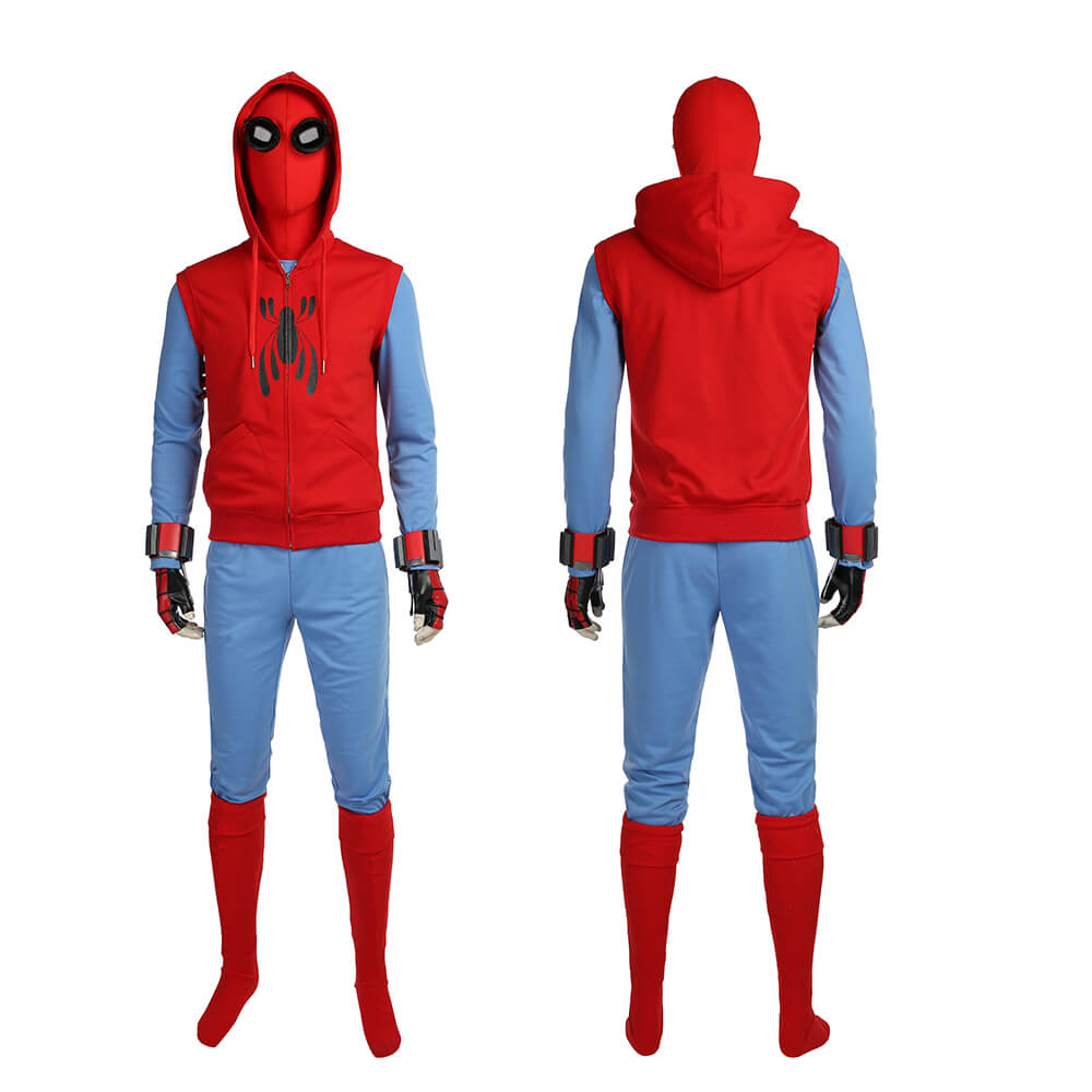 Peter Hand-sewed most of the Spiderman suits
